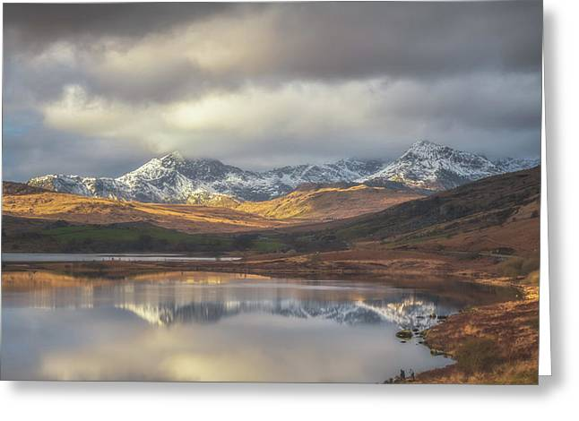 Mountain Reflections Greeting Card by Chris Fletcher