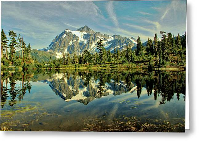 Mountain Reflections Greeting Card by Marv Russell