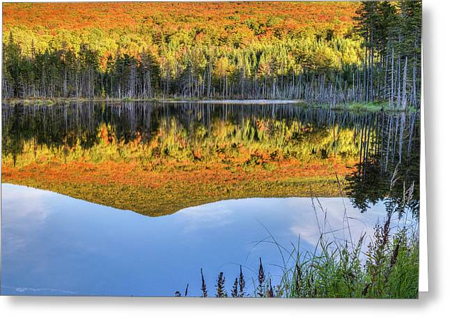 Mountain Reflections Square Greeting Card by Bill Wakeley