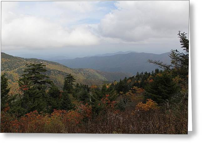Mountain Ridge View Greeting Card