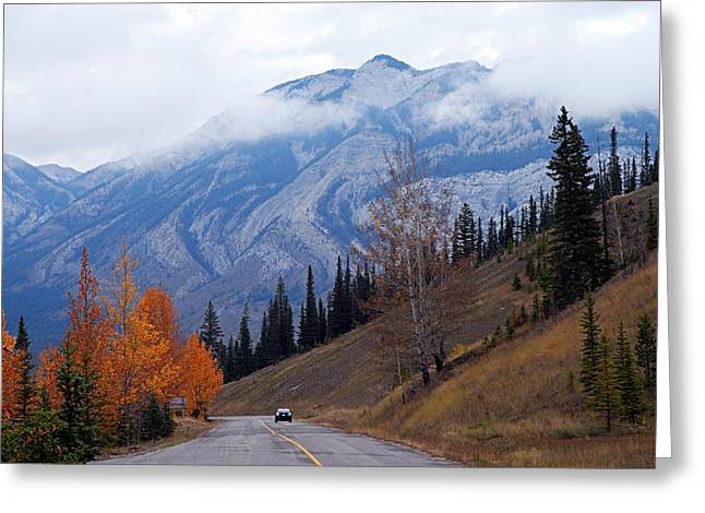 Mountain Road Greeting Card by Larry Ricker