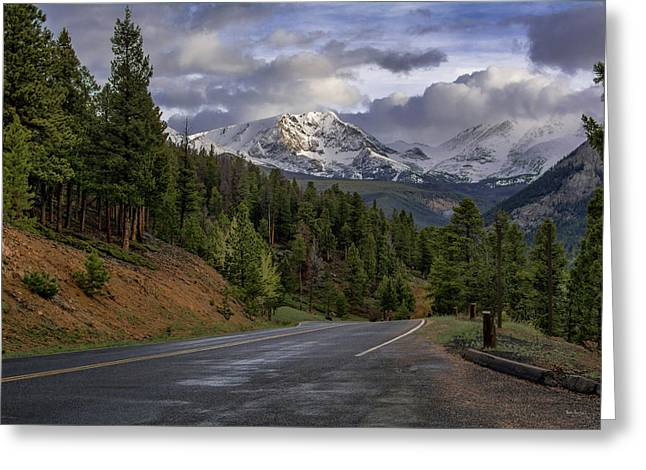 Mountain Road Greeting Card by Scott Hoarty