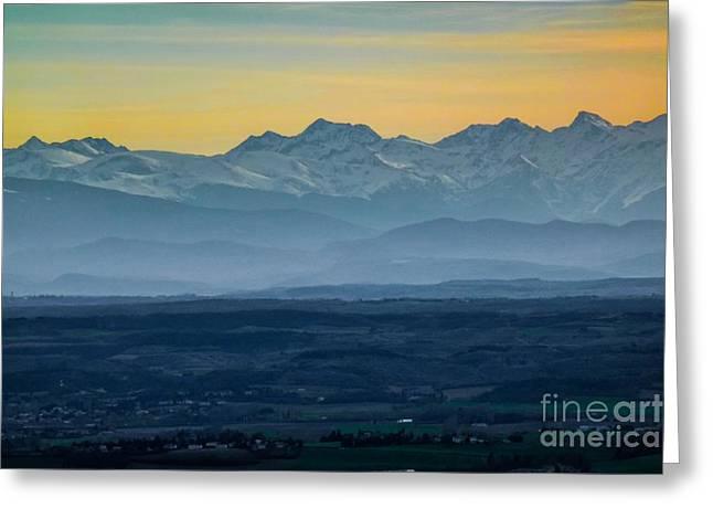 Mountain Scenery 12 Greeting Card by Jean Bernard Roussilhe