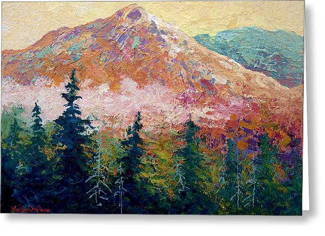 Autumn Art Greeting Cards - Mountain Sentinel Greeting Card by Marion Rose