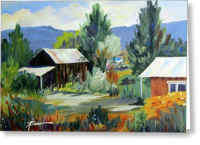 Mountain Settlement In New Mexico  Greeting Card