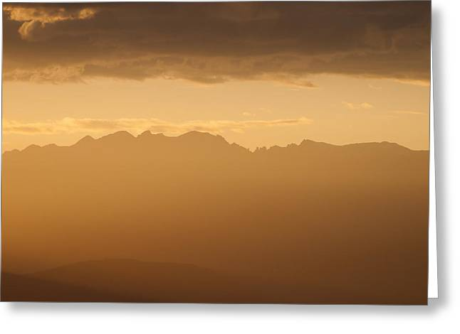 Mountain Shadows Greeting Card by Colleen Coccia