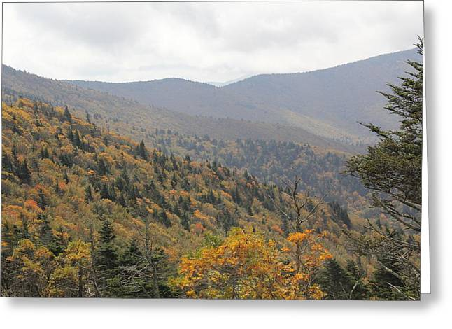Mountain Side Long View Greeting Card