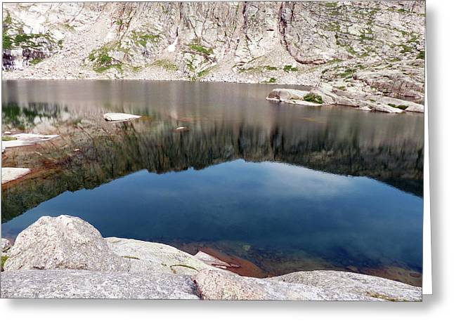 Mountain Side Reflection Greeting Card
