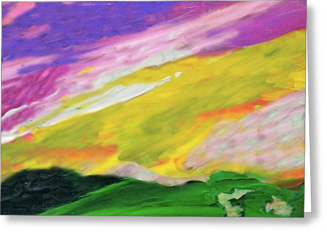 Mountain Skyscape Greeting Card