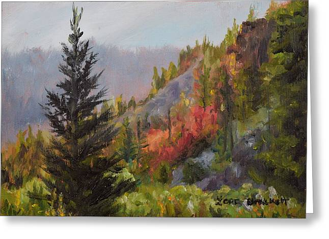Mountain Slope Fall Greeting Card