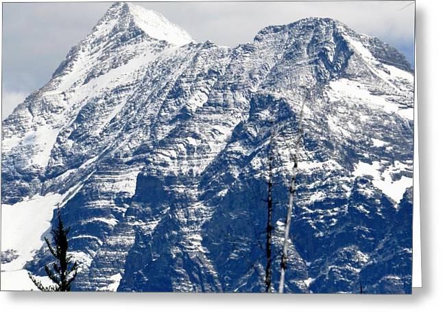Mountain Snow Greeting Card