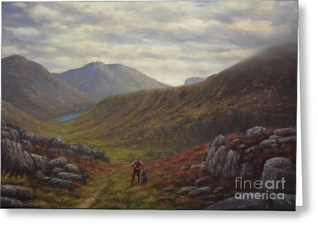 Mountain Solitude In Ireland Greeting Card