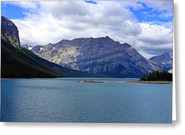 Upper Kananaskis Lake Greeting Card by Heather Vopni