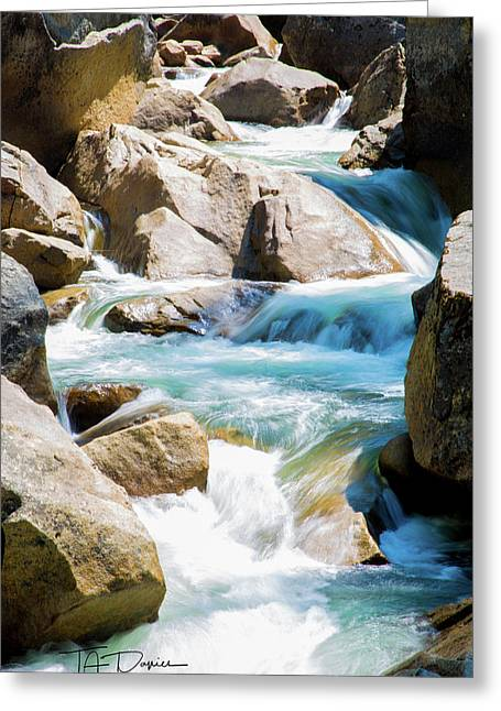 Mountain Spring Water Greeting Card