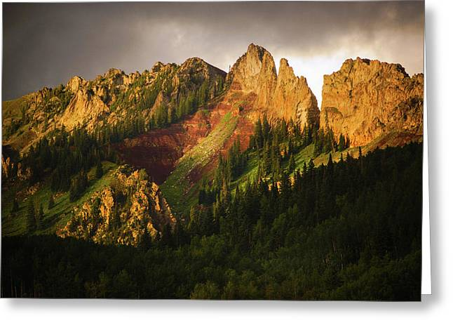 Mountain Storm Light Greeting Card