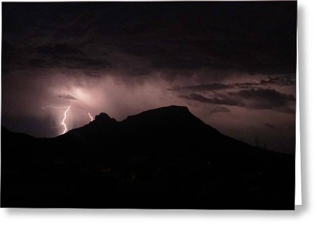 Mountain Storm Greeting Card by Rick Lloyd