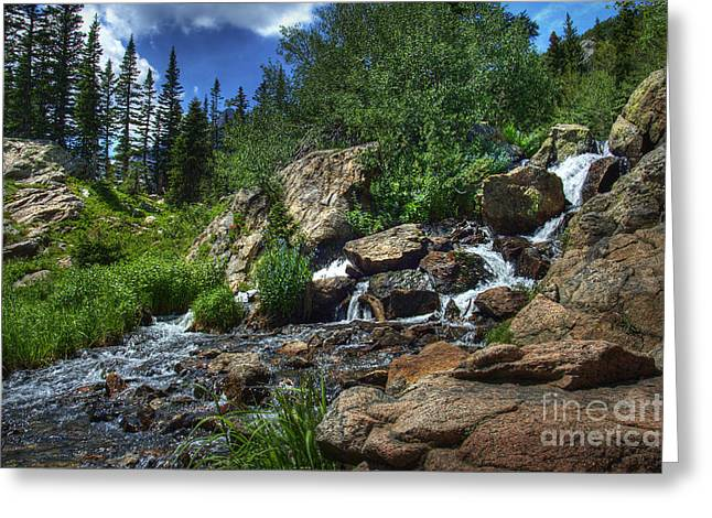 Mountain Stream 3 Greeting Card by Pete Hellmann