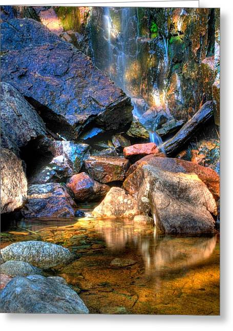 Greeting Card featuring the photograph Mountain Stream by Greg DeBeck