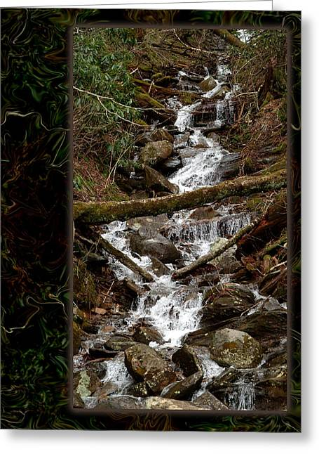 Mountain Stream Greeting Card by Robert Clayton