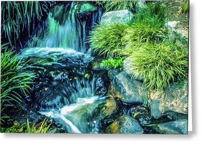 Greeting Card featuring the photograph Mountain Stream by Samuel M Purvis III