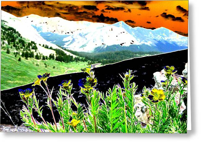 Mountain Summer Greeting Card by Peter  McIntosh