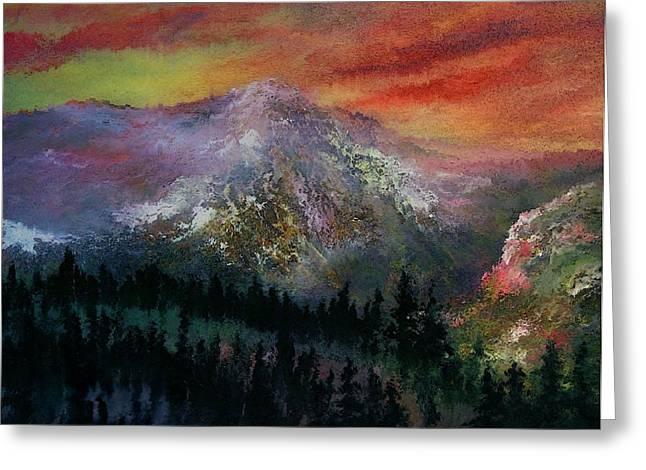 Mountain Summit Greeting Card by Jeffrey m Bozik