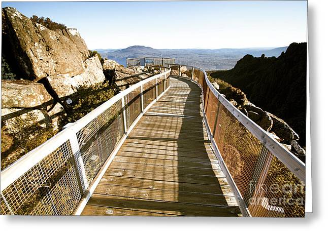 Mountain Summit Lookout Greeting Card
