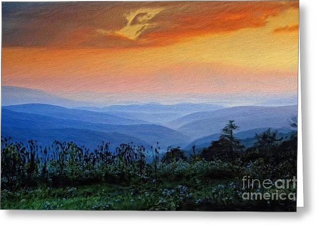 Mountain Sunrise Greeting Card by Lois Bryan