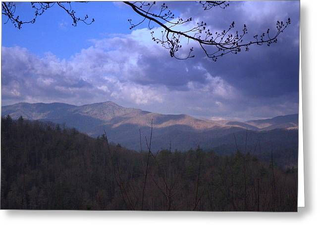 Mountain Sunrise Greeting Card by Wayne Skeen
