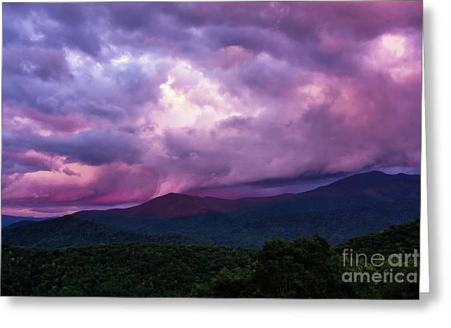 Mountain Sunset In The East Greeting Card