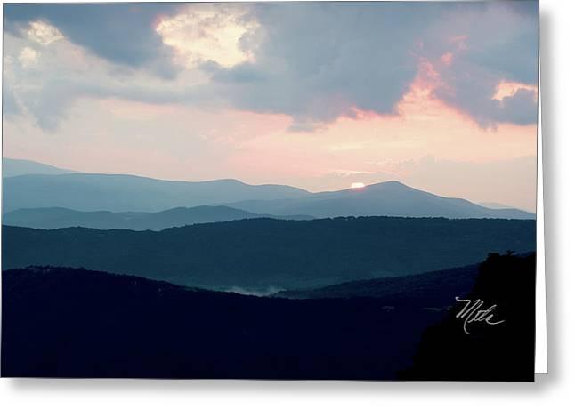 Greeting Card featuring the photograph Blue Ridge Mountain Sunset by Meta Gatschenberger