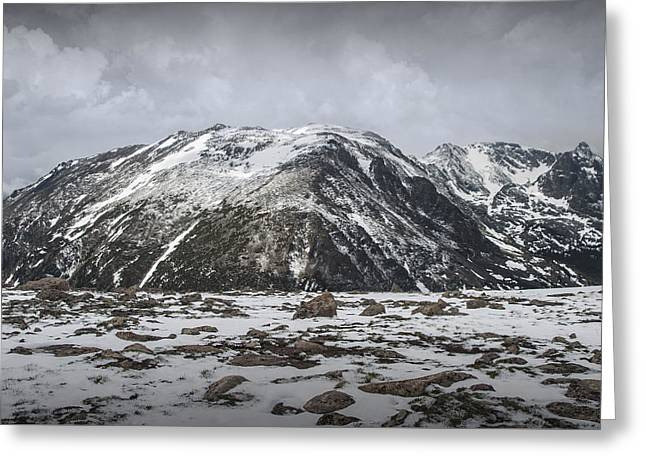 Mountain Tops In Rocky Mountain National Park Greeting Card by Randall Nyhof