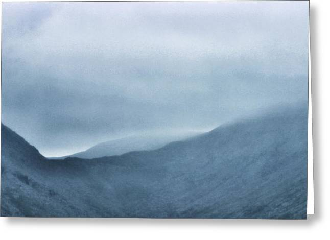 Mountain Tops Or Ocean Waves Greeting Card