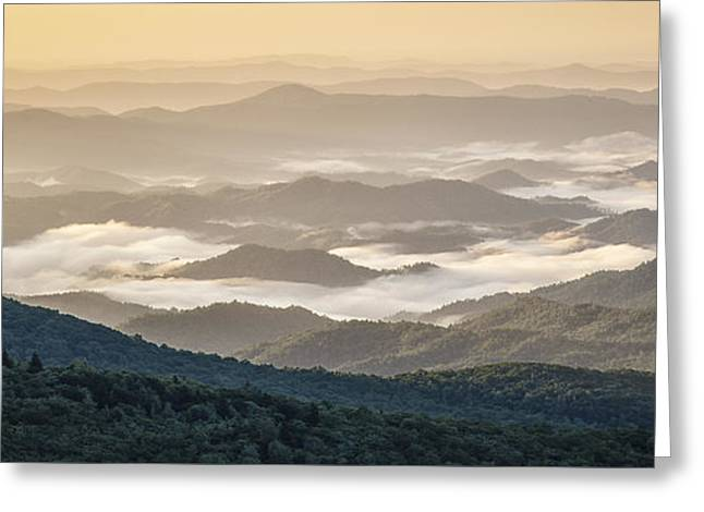 Mountain Valley Fog - Blue Ridge Parkway Greeting Card
