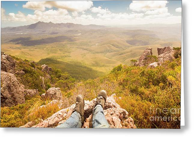 Mountain Valley Landscape Greeting Card by Jorgo Photography - Wall Art Gallery