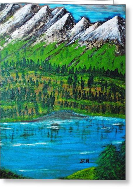Mountain Valley Paradise Number Five Greeting Card by Scott Haley