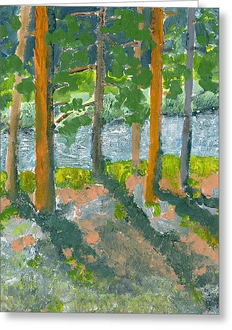 Mountain Valley Greeting Card by Rodger Ellingson