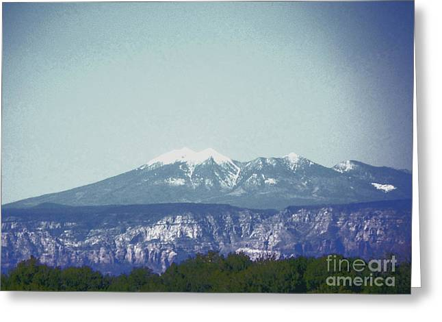 Mountain View Greeting Card by Debbie Wells