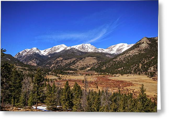 Greeting Card featuring the photograph Mountain View From Fall River Road In Rocky Mountain National Pa by Peter Ciro