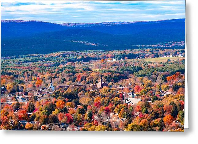 Greeting Card featuring the photograph Mountain View Of Easthampton, Ma by Sven Kielhorn