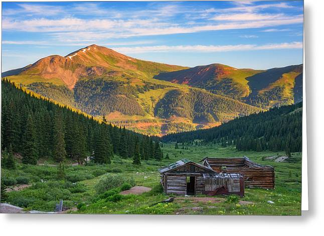 Mountain Views Greeting Card by Darren White