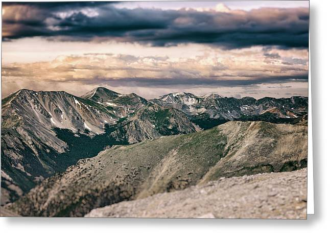 Mountain Vista Greeting Card by Garett Gabriel