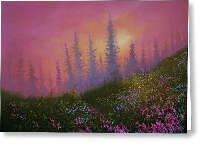 Mountain Wildflowers Greeting Card by C Steele