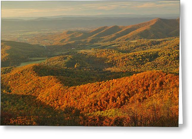 Shenandoah National Park Greeting Cards - Mountainous Sunset Landscape Greeting Card by Raymond Gehman