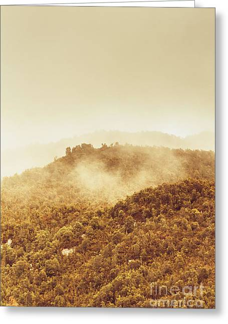Mountainous Tasmanian Mist Greeting Card