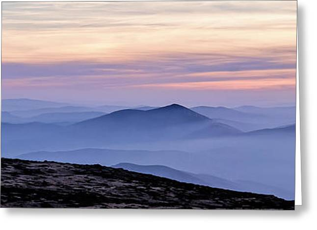 Greeting Card featuring the photograph Mountains And Mist by Marion McCristall