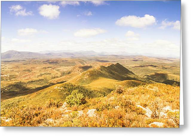 Mountains And Open Spaces Greeting Card