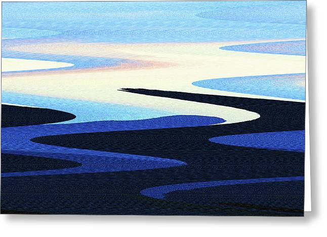 Mountains And Sky Abstract Greeting Card by Tom Janca