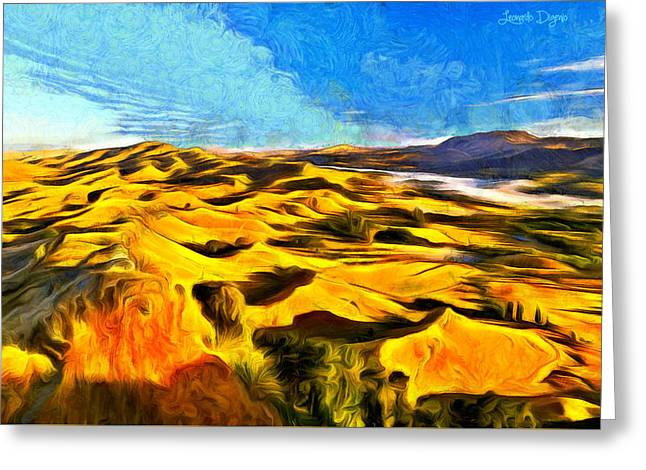 Mountains And Valley - Da Greeting Card