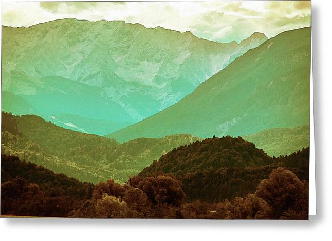 Mountains Greeting Card by Artistic Panda